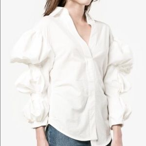 RARE! Jacquemus bubbles sleeves blouse in white